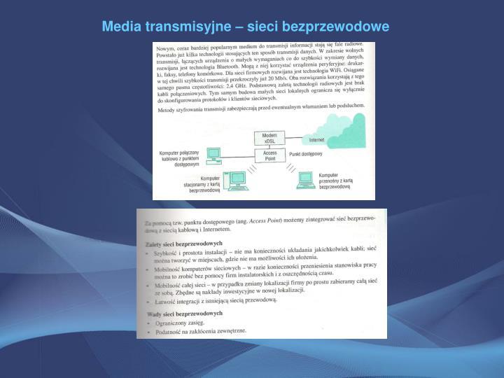 Media transmisyjne – sieci bezprzewodowe