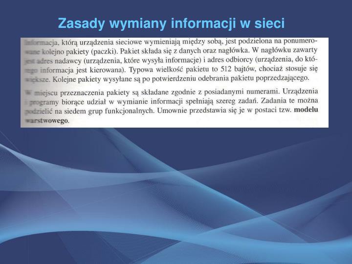 Zasady wymiany informacji w sieci
