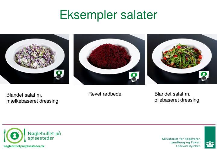 Eksempler salater