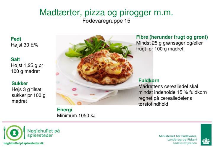 Madtærter, pizza og pirogger m.m.
