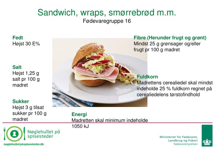 Sandwich, wraps, smørrebrød m.m.