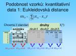 podobnost vzork kvantitativn data 1 eukleidovsk distance
