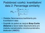 podobnost vzork kvantitativn data 2 percentage similarity