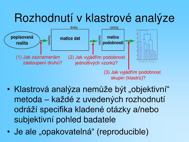Rozhodnutí v klastrové analýze