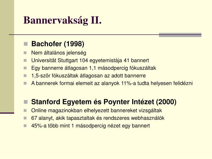 Bannervakság II.