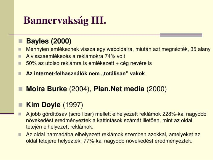 Bannervakság III.