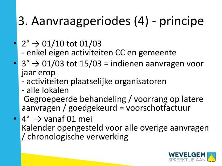 3. Aanvraagperiodes (4) - principe