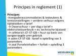 principes in reglement 1