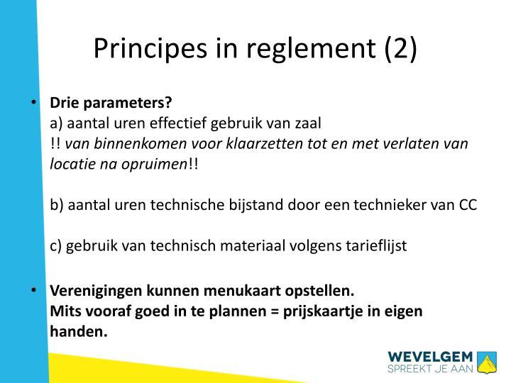 Principes in reglement (2)
