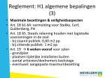 reglement h1 algemene bepalingen 3