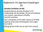 reglement h1 algemene bepalingen 5
