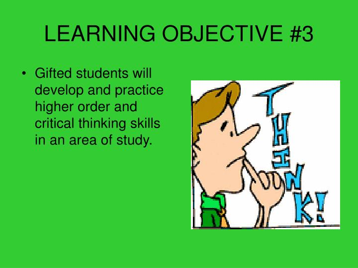 LEARNING OBJECTIVE #3