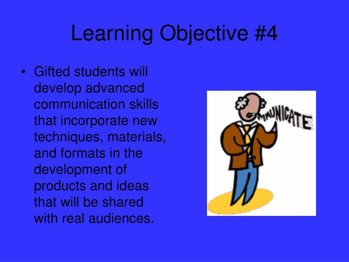 Learning Objective #4