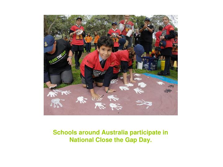Schools around australia participate in national close the gap day