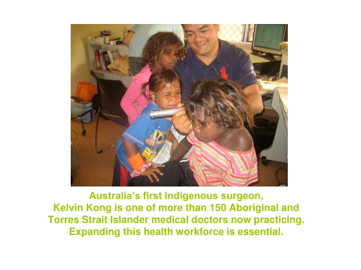 Australia's first Indigenous surgeon,