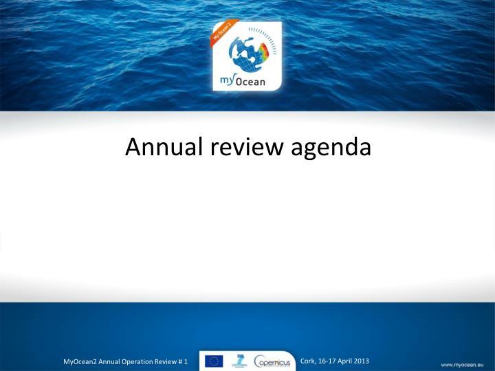 Annual review agenda