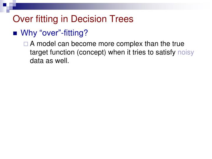 Over fitting in Decision Trees