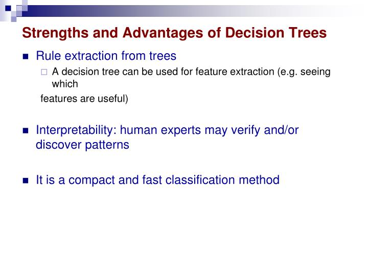 Strengths and Advantages of Decision Trees