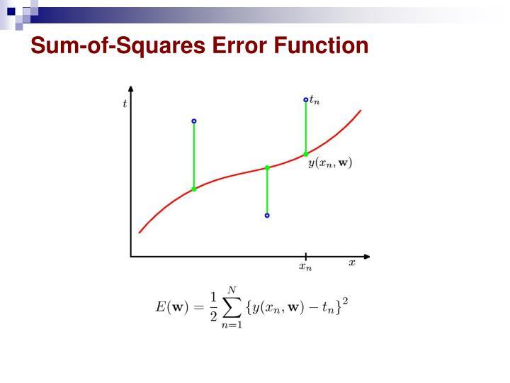 Sum-of-Squares Error Function