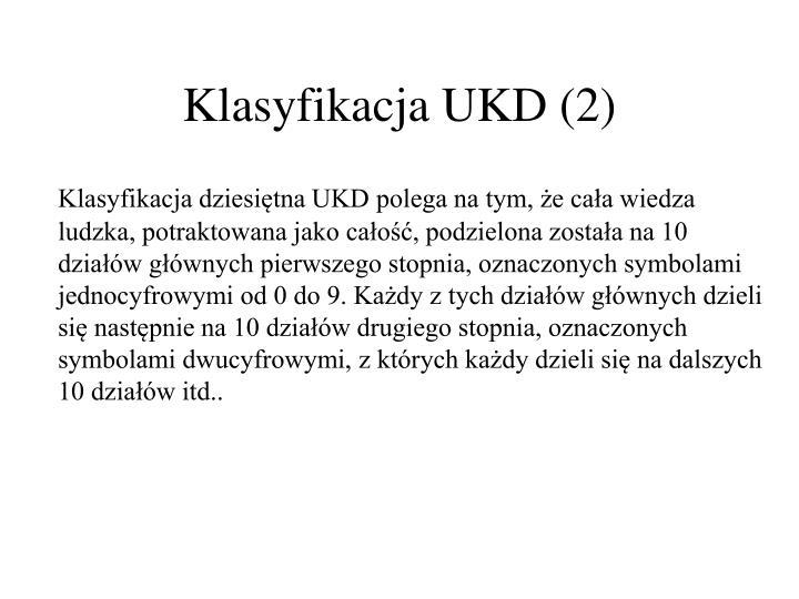Klasyfikacja UKD (2)