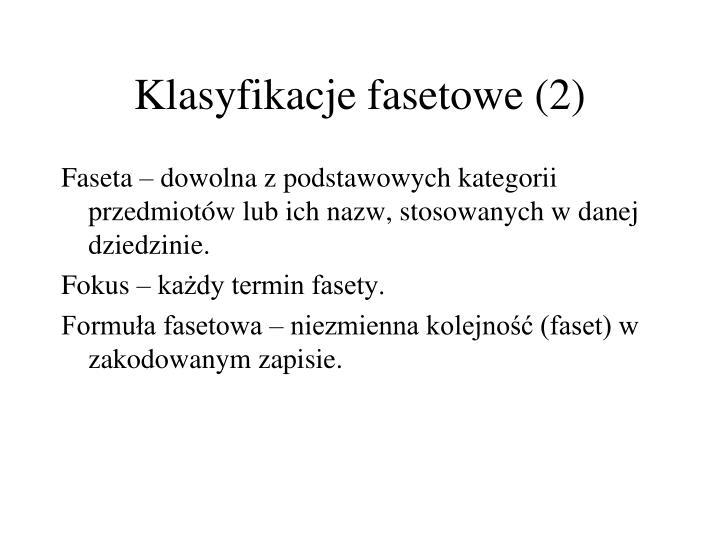 Klasyfikacje fasetowe (2)