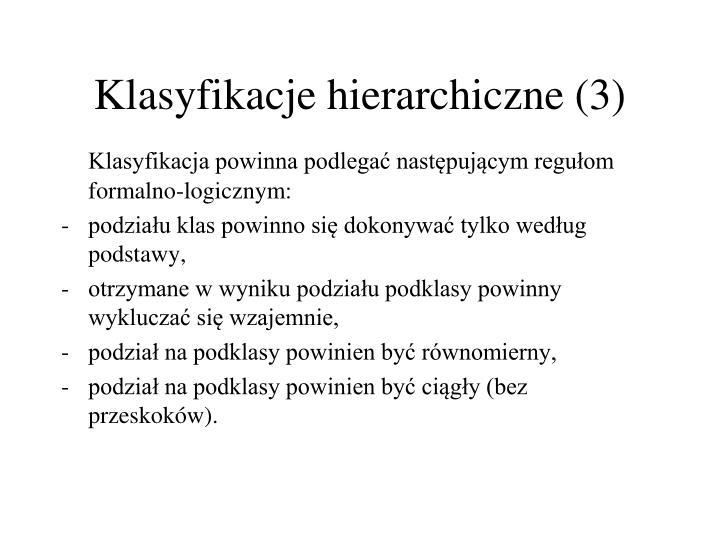 Klasyfikacje hierarchiczne (3)