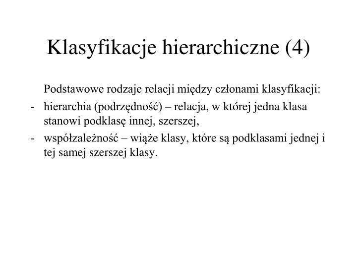 Klasyfikacje hierarchiczne (4)