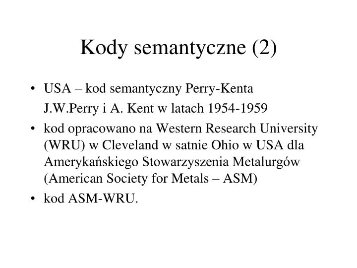 Kody semantyczne (2)