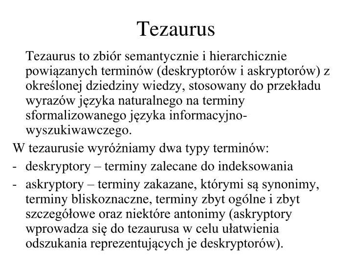Tezaurus