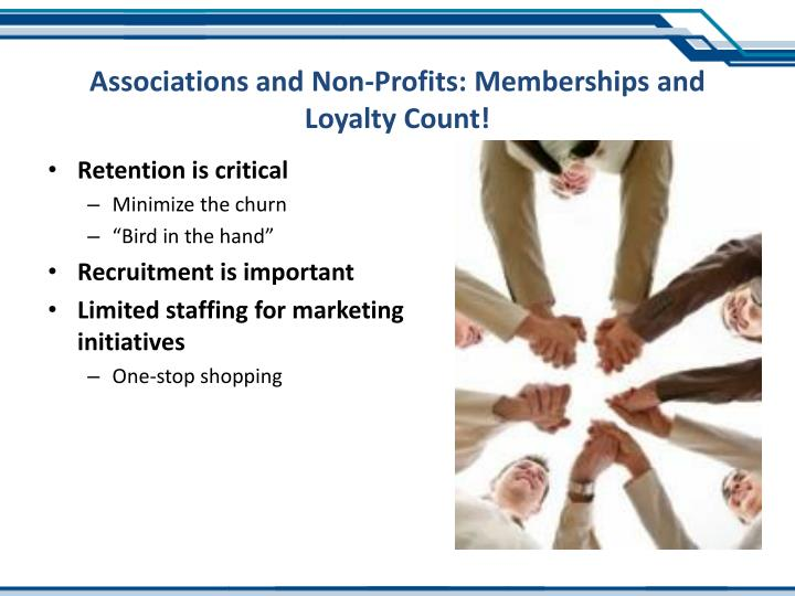 Associations and Non-Profits: