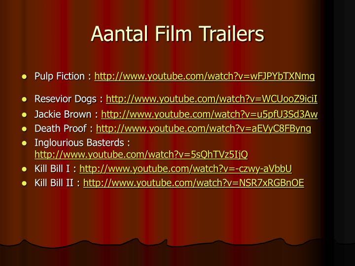 Aantal Film Trailers