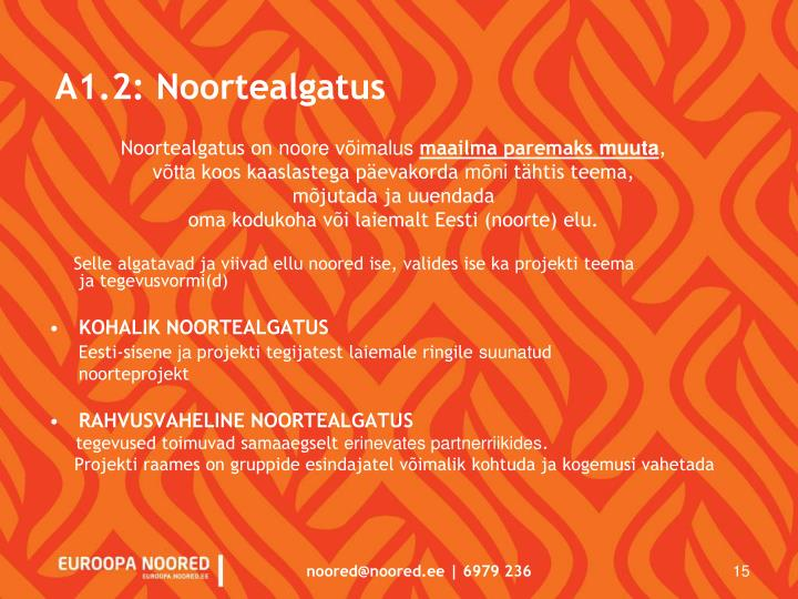A1.2: Noortealgatus