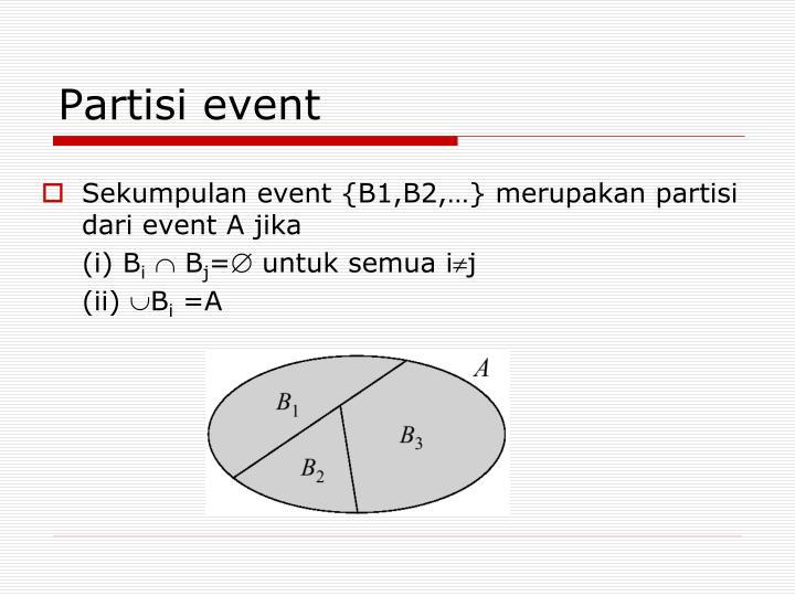 Partisi event