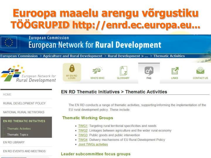 Euroopa maaelu arengu võrgustiku