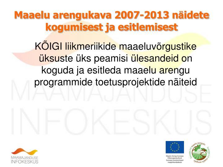 Maaelu arengukava 2007-2013 n