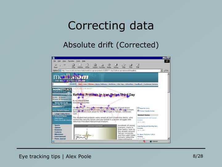Correcting data