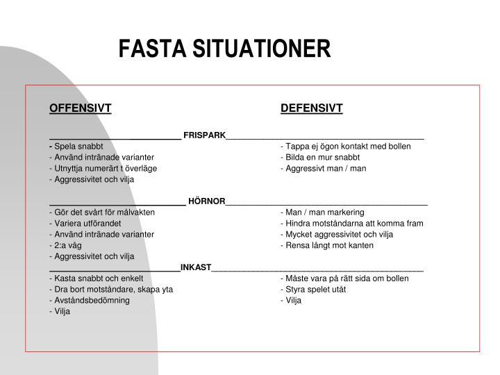 FASTA SITUATIONER