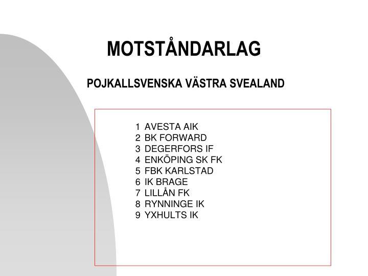 MOTSTÅNDARLAG