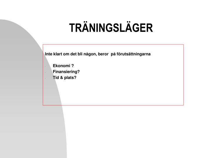 TRÄNINGSLÄGER