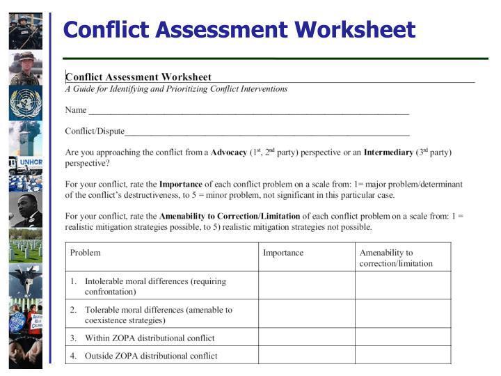 Conflict Assessment Worksheet