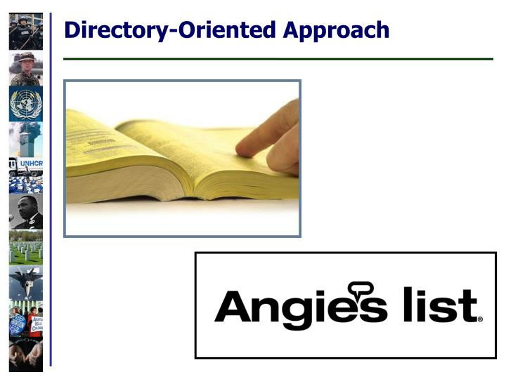 Directory-Oriented Approach