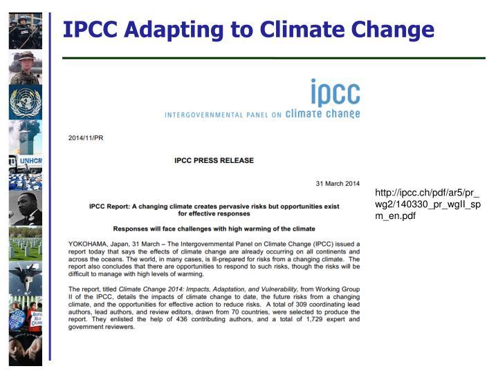 IPCC Adapting to Climate Change