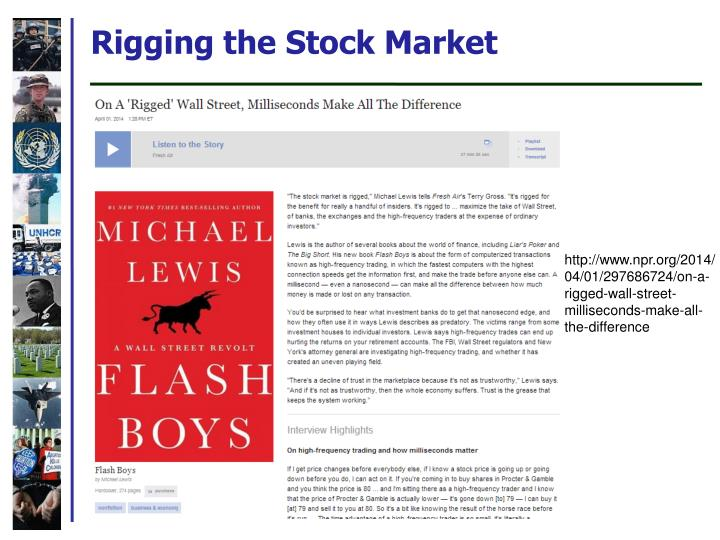 Rigging the Stock Market