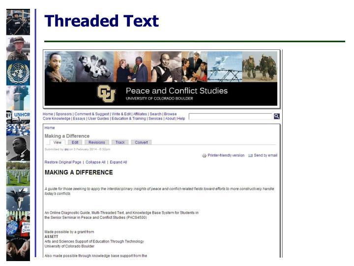 Threaded Text