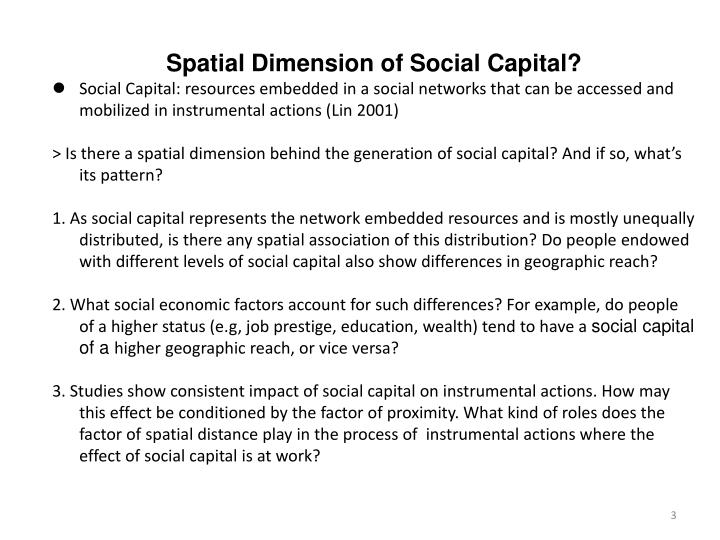 Spatial Dimension of Social Capital?