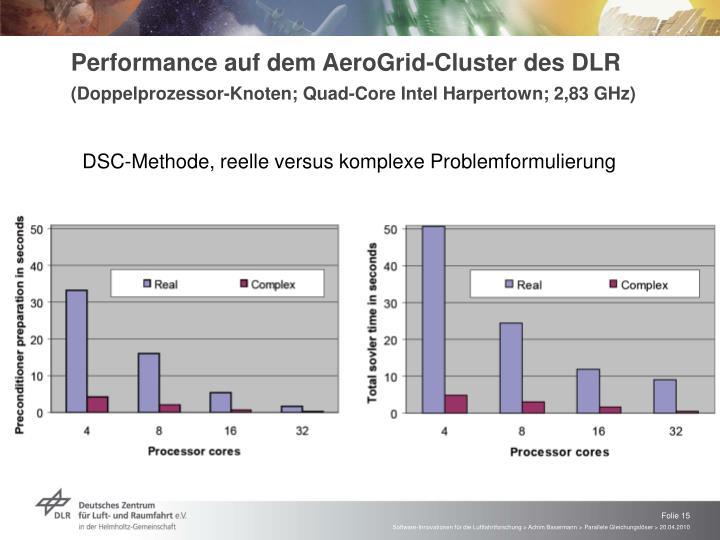 Performance auf dem AeroGrid-Cluster des DLR