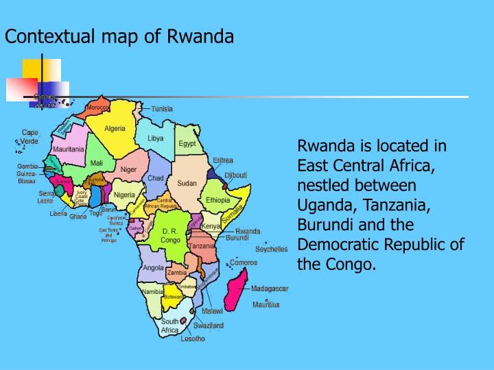 Contextual map of Rwanda