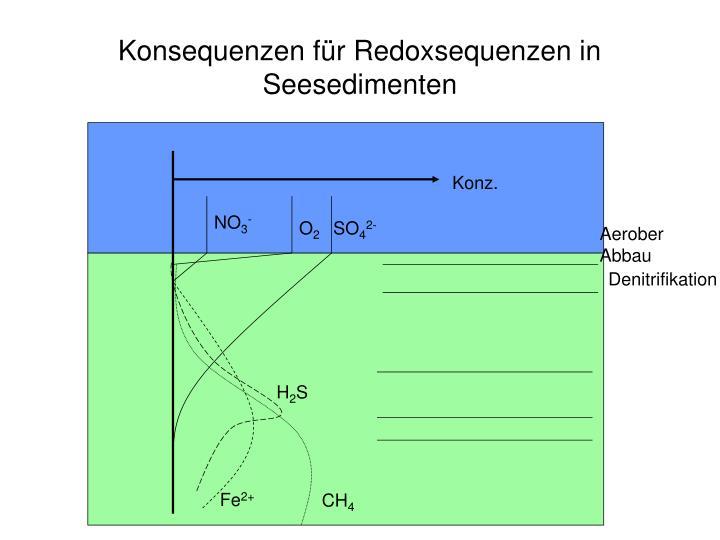 Konsequenzen für Redoxsequenzen in Seesedimenten
