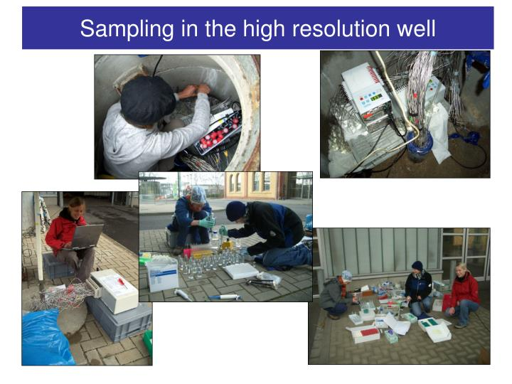Sampling in the high resolution well