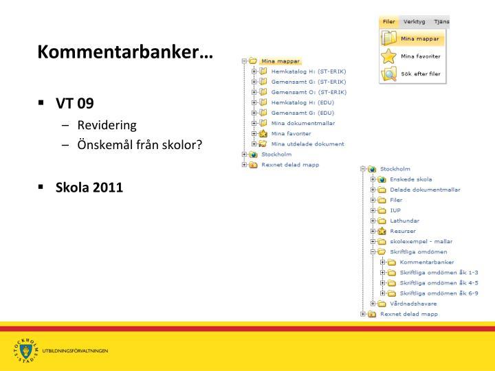 Kommentarbanker…